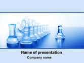 Business Concepts: Glass Chess PowerPoint Template #06365