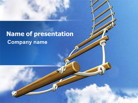 Rope Ladder PowerPoint Template, 06366, Consulting — PoweredTemplate.com