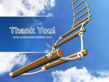 Rope Ladder PowerPoint Template Slide 20