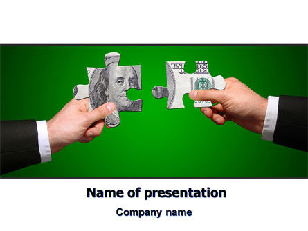 Financial/Accounting: Money Puzzles PowerPoint Template #06367