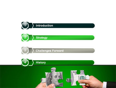 Money Puzzles PowerPoint Template, Slide 3, 06367, Financial/Accounting — PoweredTemplate.com