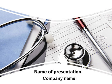 Medical: Medical Record For Analysis PowerPoint Template #06369