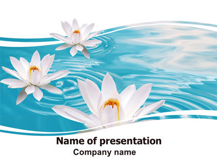 Nature & Environment: Water Lilies PowerPoint Template #06371