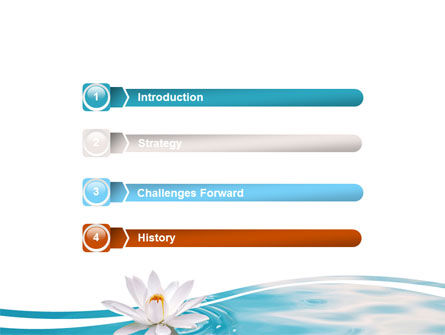 Water Lilies PowerPoint Template, Slide 3, 06371, Nature & Environment — PoweredTemplate.com