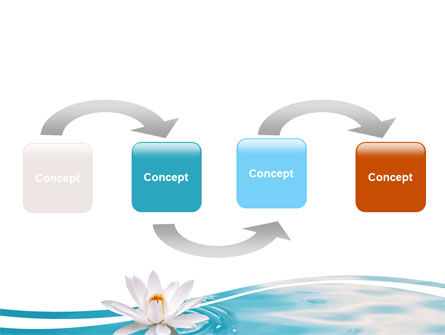 Water Lilies PowerPoint Template, Slide 4, 06371, Nature & Environment — PoweredTemplate.com