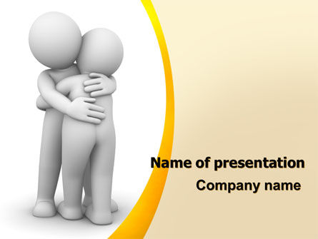 Hugging PowerPoint Template, 06372, Religious/Spiritual — PoweredTemplate.com