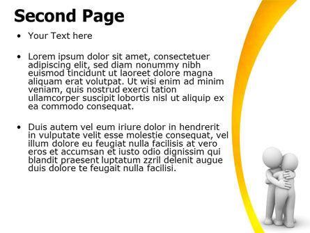 Hugging PowerPoint Template Slide 2