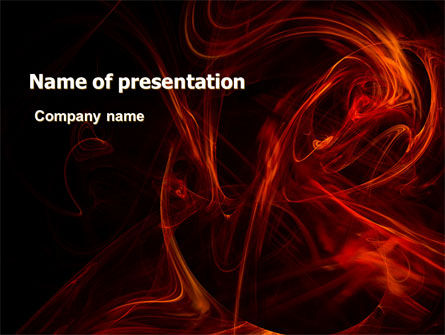 Red Smoke PowerPoint Template, 06374, Abstract/Textures — PoweredTemplate.com