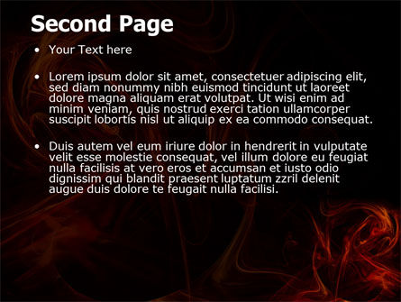 Red Smoke PowerPoint Template, Slide 2, 06374, Abstract/Textures — PoweredTemplate.com