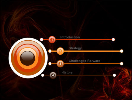 Red Smoke PowerPoint Template, Slide 3, 06374, Abstract/Textures — PoweredTemplate.com