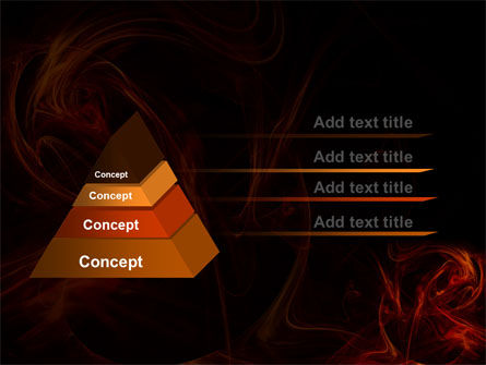 Red Smoke PowerPoint Template, Slide 4, 06374, Abstract/Textures — PoweredTemplate.com