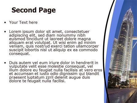 Petronas Twin Towers PowerPoint Template, Slide 2, 06375, Construction — PoweredTemplate.com