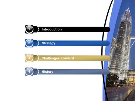 Petronas Twin Towers PowerPoint Template Slide 3