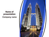 Petronas Twin Towers PowerPoint Template#1