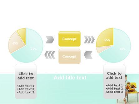 Girl Studying PowerPoint Template Slide 11