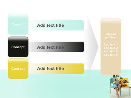 Girl Studying PowerPoint Template Slide 12