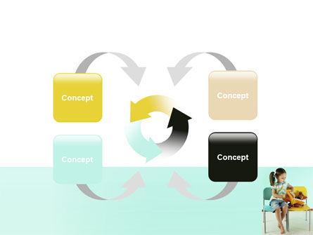 Girl Studying PowerPoint Template Slide 6