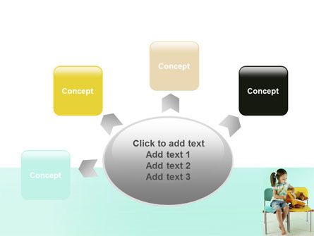 Girl Studying PowerPoint Template Slide 7