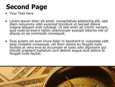 Money Compass PowerPoint Template, Slide 2, 06377, Consulting — PoweredTemplate.com