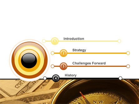 Money Compass PowerPoint Template Slide 3
