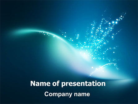 Blue Splashes PowerPoint Template, 06378, Abstract/Textures — PoweredTemplate.com