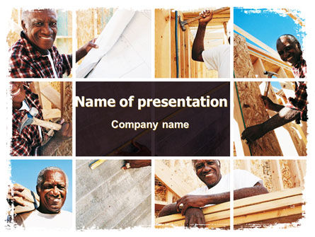 Construction: Do-It-Yourself House PowerPoint Template #06379