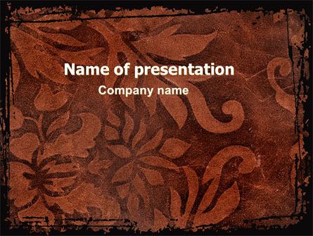 Carpet Ornament PowerPoint Template, 06380, Art & Entertainment — PoweredTemplate.com