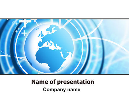 World PowerPoint Template, 06384, Global — PoweredTemplate.com