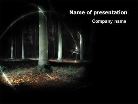 Nature & Environment: Mystic Woods PowerPoint Template #06385