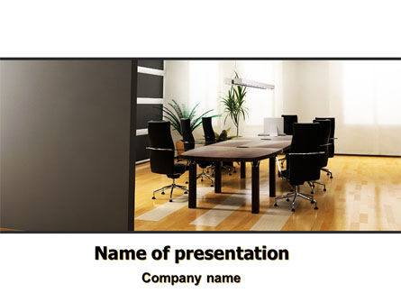 Company Conference Hall PowerPoint Template, 06386, Business — PoweredTemplate.com