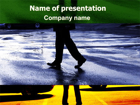 Business Concepts: Sidewalk PowerPoint Template #06389
