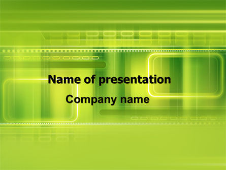 Green Abstract Frame PowerPoint Template, 06391, Abstract/Textures — PoweredTemplate.com