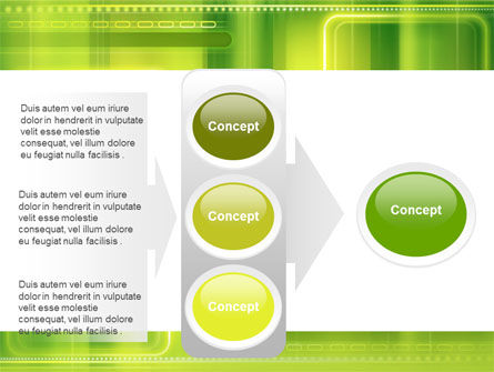 Green Abstract Frame PowerPoint Template Slide 11