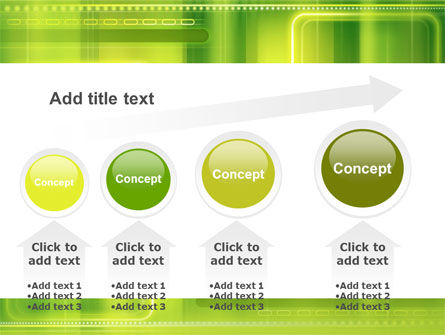 Green Abstract Frame PowerPoint Template Slide 13