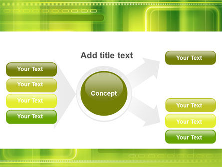 Green Abstract Frame PowerPoint Template Slide 14
