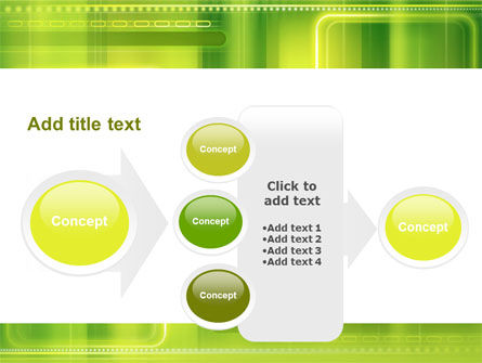 Green Abstract Frame PowerPoint Template Slide 17