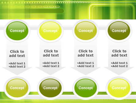 Green Abstract Frame PowerPoint Template Slide 18