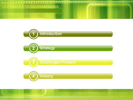 Green Abstract Frame PowerPoint Template Slide 3