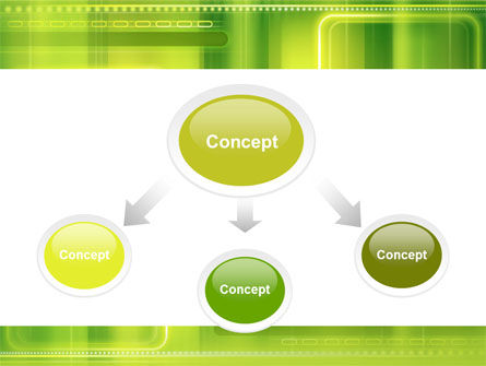 Green Abstract Frame PowerPoint Template, Slide 4, 06391, Abstract/Textures — PoweredTemplate.com