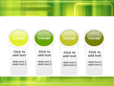 Green Abstract Frame PowerPoint Template Slide 5