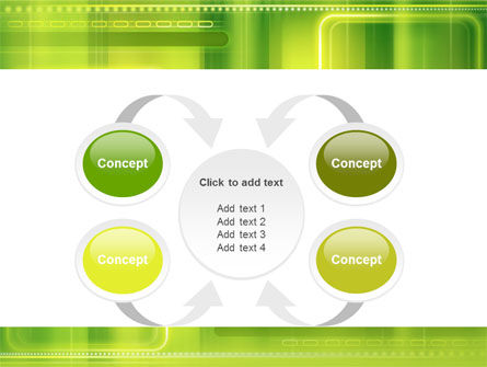 Green Abstract Frame PowerPoint Template Slide 6