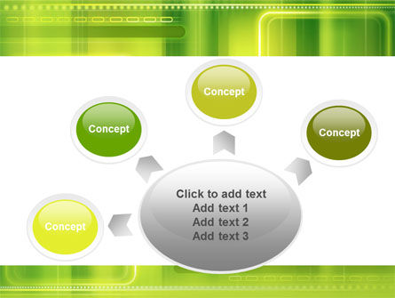 Green Abstract Frame PowerPoint Template Slide 7