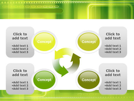 Green Abstract Frame PowerPoint Template Slide 9
