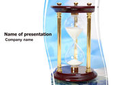 Consulting: Ancient Hourglass PowerPoint Template #06392