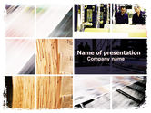 Careers/Industry: Newspaper Printing PowerPoint Template #06393