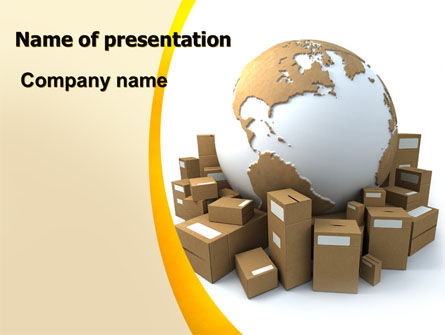 Packages PowerPoint Template, 06394, Careers/Industry — PoweredTemplate.com