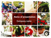 Careers/Industry: Pot Plants PowerPoint Template #06395