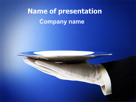 Waiter PowerPoint Template, 06397, Business Concepts — PoweredTemplate.com