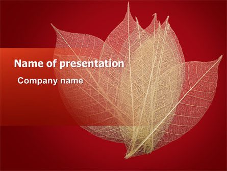 Nature & Environment: Red Dry Leaves PowerPoint Template #06399