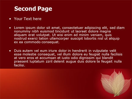 Red Dry Leaves PowerPoint Template, Slide 2, 06399, Nature & Environment — PoweredTemplate.com
